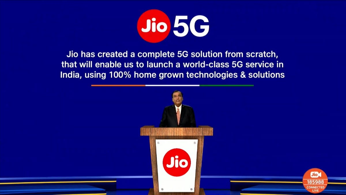 """""""Made In India"""" Reliance Jio 5G Solution Announced At AGM 2020 Of RIL"""
