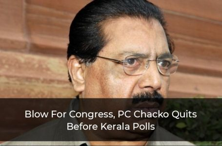Blow For Congress, PC Chacko Quits Before Kerala Polls