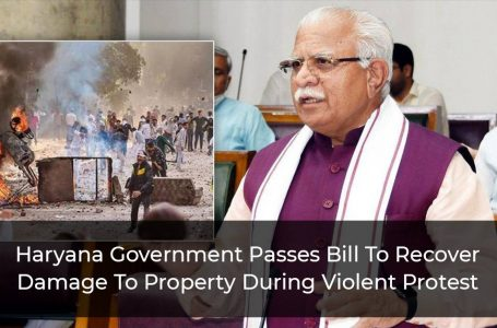 Haryana Government Passes Bill To Recover Damage To Property During Violent Protest