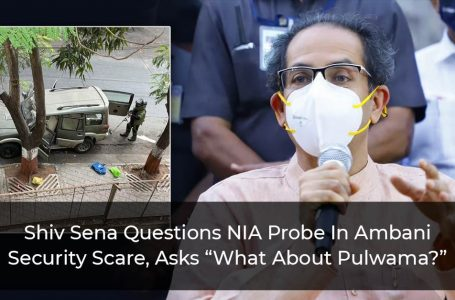 """Shiv Sena Questions NIA Probe In Ambani Security Scare, Asks """"What About Pulwama?"""""""