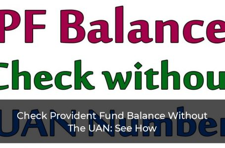 Check Provident Fund Balance Without The UAN: See How