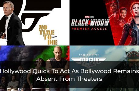 Hollywood Quick To Act As Bollywood Remains Absent From Theaters