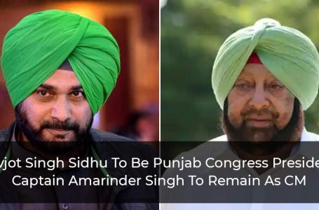 Navjot Singh Sidhu Likely To Be Punjab Congress President, Captain Amarinder Singh To Remain As CM