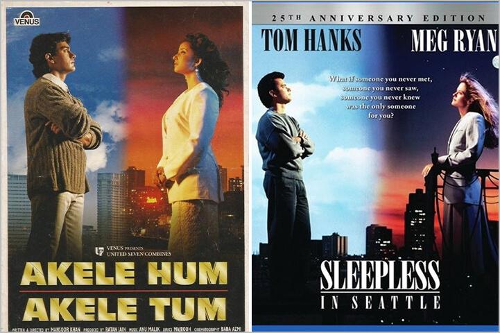 Akele Hum Akele Tum/ Sleepless in Seattle-Copied Bollywood Movie Posters