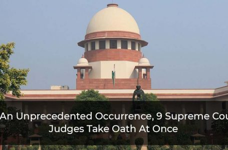 In An Unprecedented Occurrence, 9 Supreme Court Judges Take Oath At Once