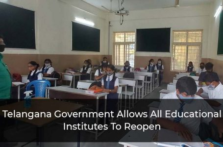 All Education Institutes In Telangaran To Reopen From Next Week Says Government