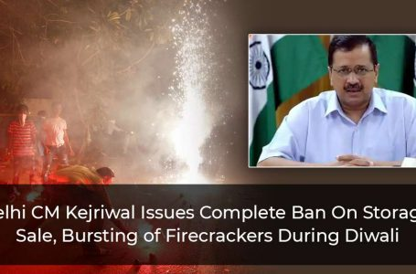 Delhi CM Kejriwal Issues Complete Ban On Storage, Sale, Bursting of Firecrackers During Diwali