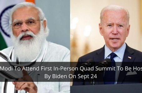 PM Modi To Attend First In-Person Quad Summit To Be Hosted By Biden On Sept 24