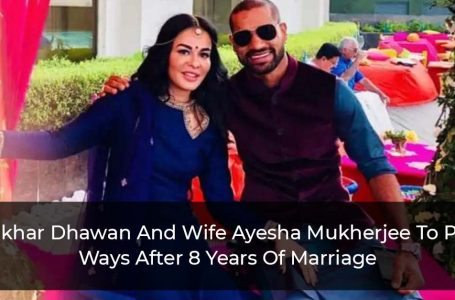 Shikhar Dhawan And Wife Aesha Mukerji To Part Ways After 8 Years Of Marriage