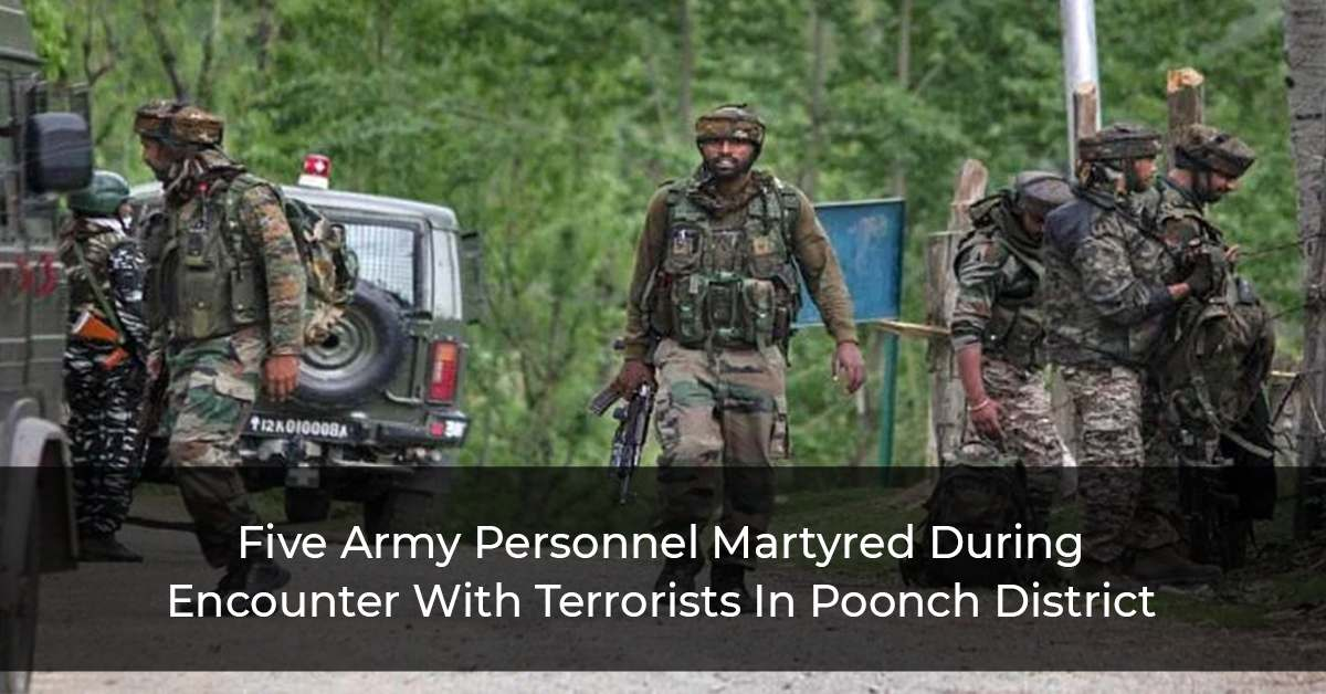 Five Army Personnel Including JSO Martyred During Anti-Terrorism Operation In Jammu And Kashmir's Poonch